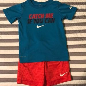 Nike boys dri fit outfit size 4